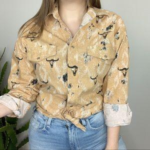 Vintage   Wrangler Snap Button Western Shirt Men's